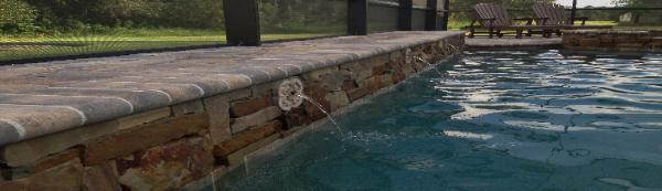 luxury pool water features in parrish, fl